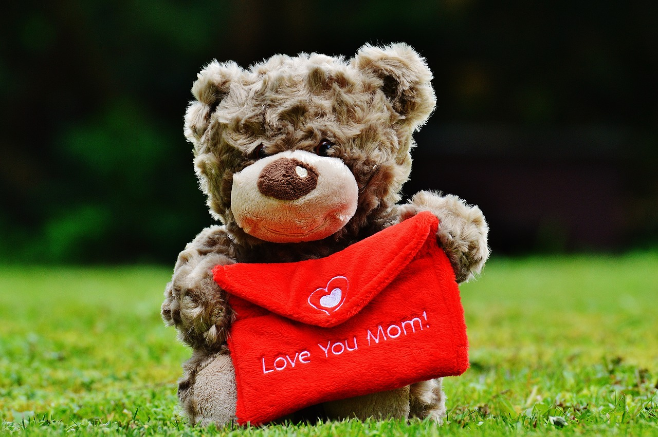 teddy mother's day love free photo