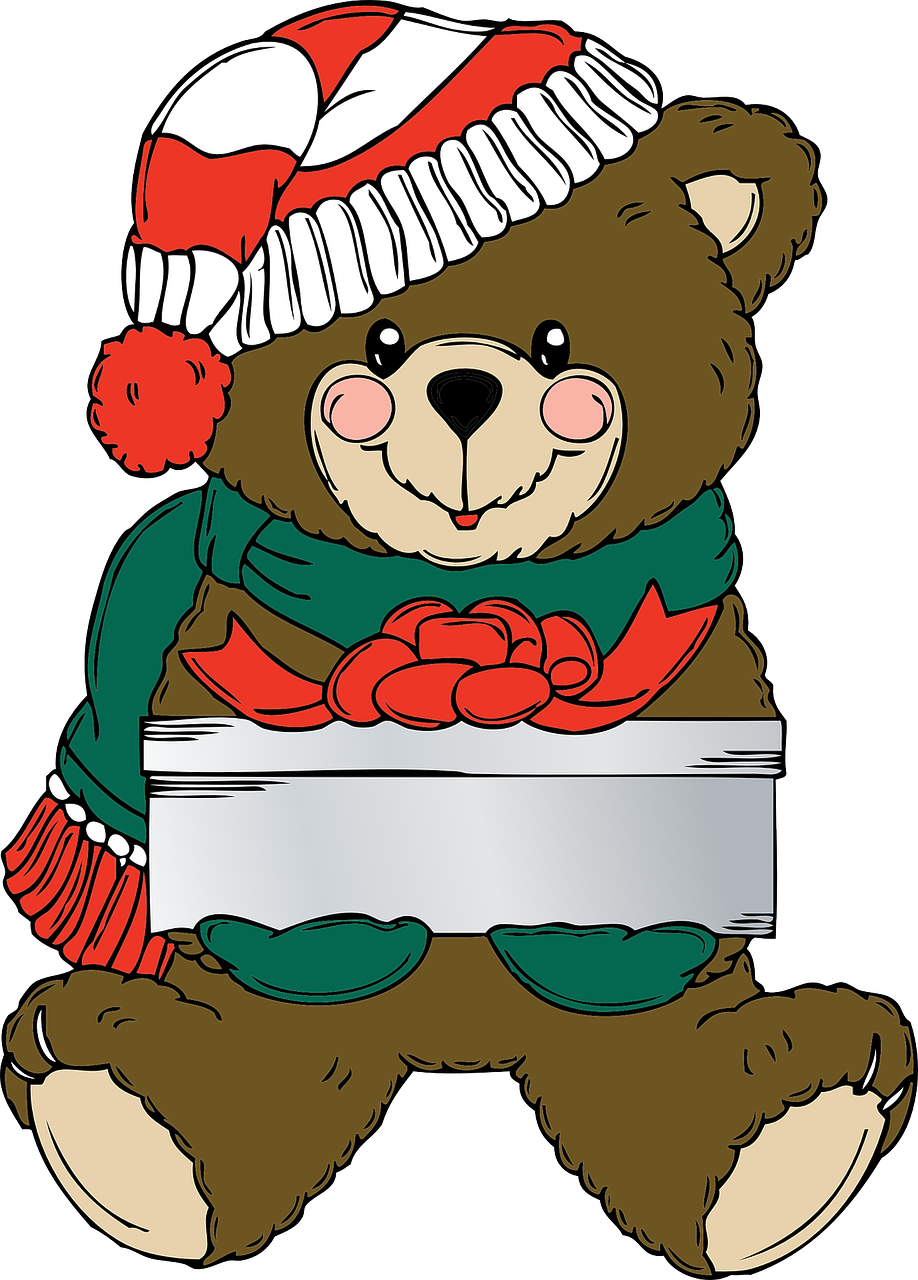 teddy bear festive christmas free photo