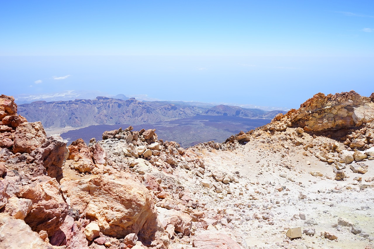 teide outlook distant view free photo