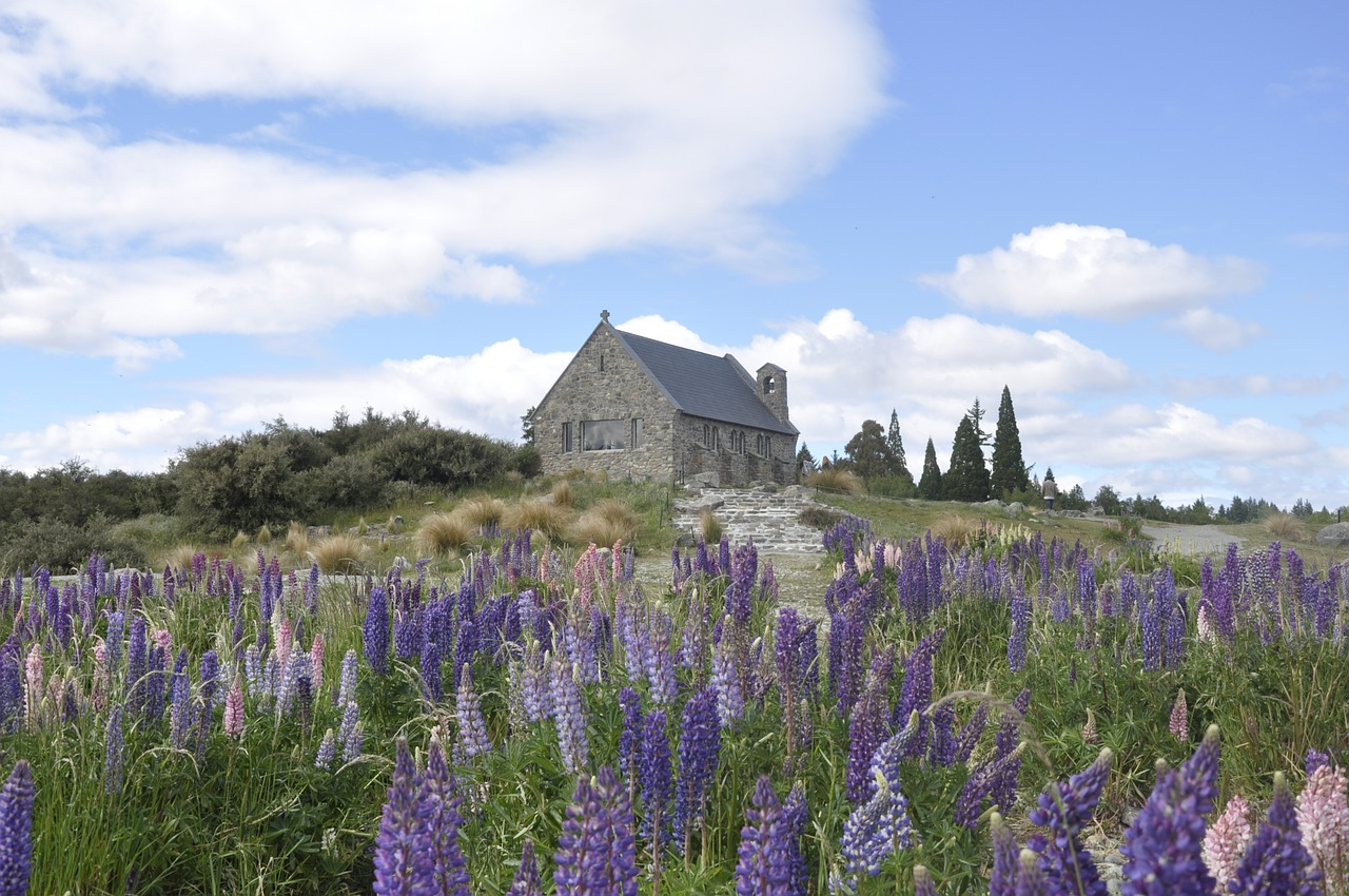 tekapo new zealand church free photo