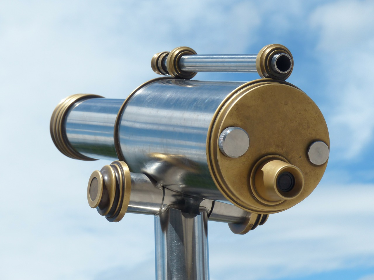 telescope by looking view free photo