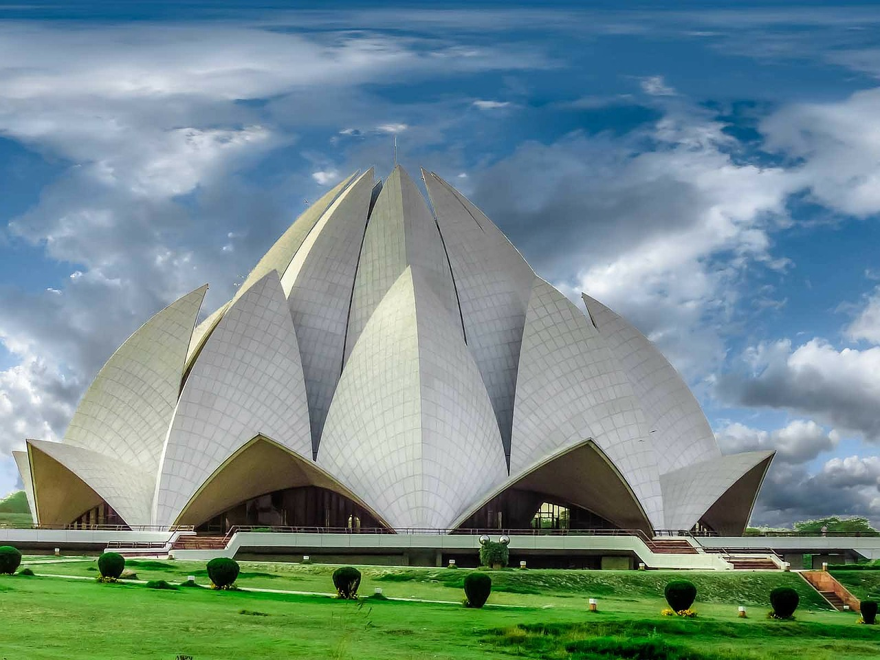 temple lotus temple architecture free photo