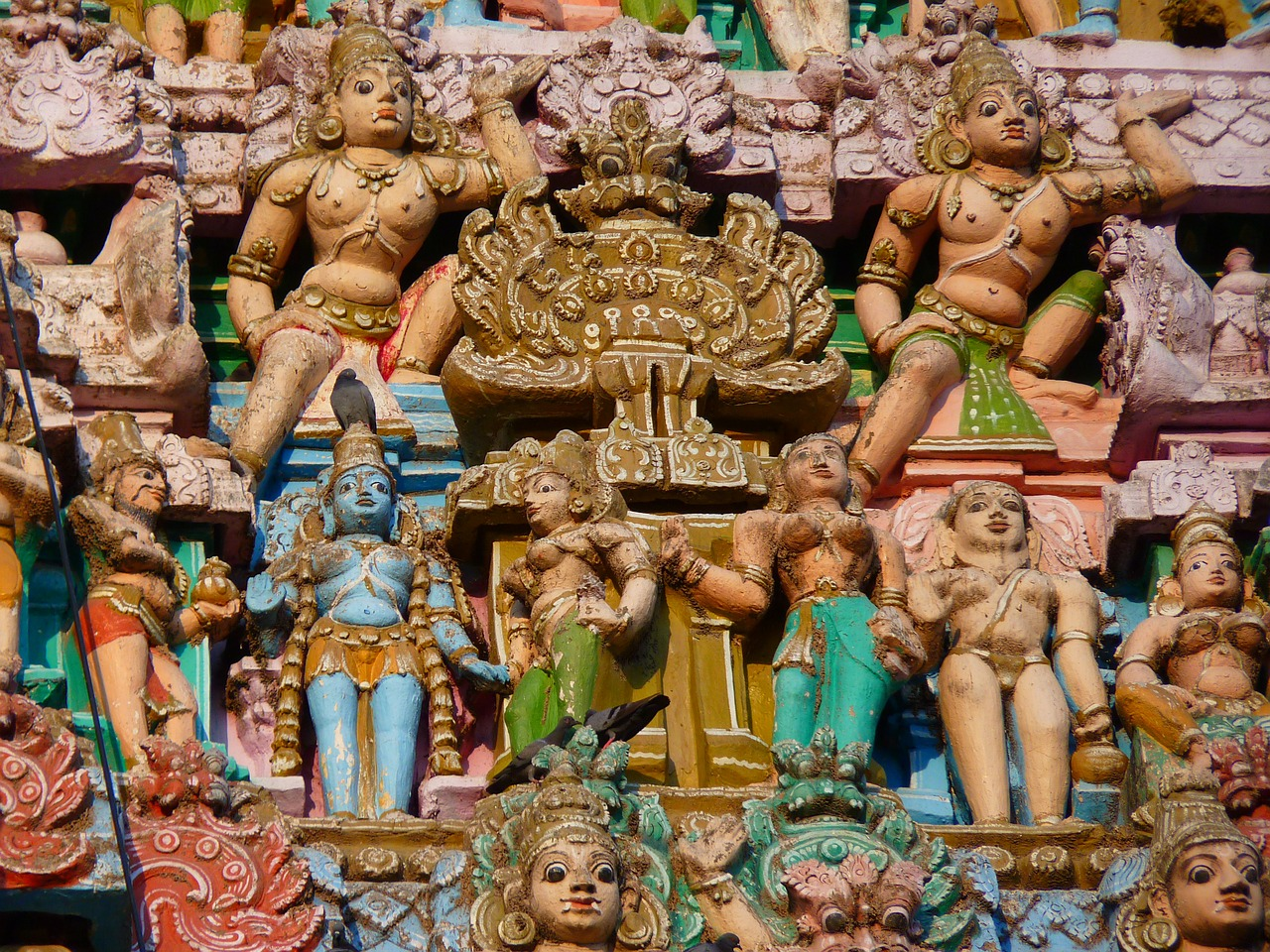 temple figures temple colorful free photo