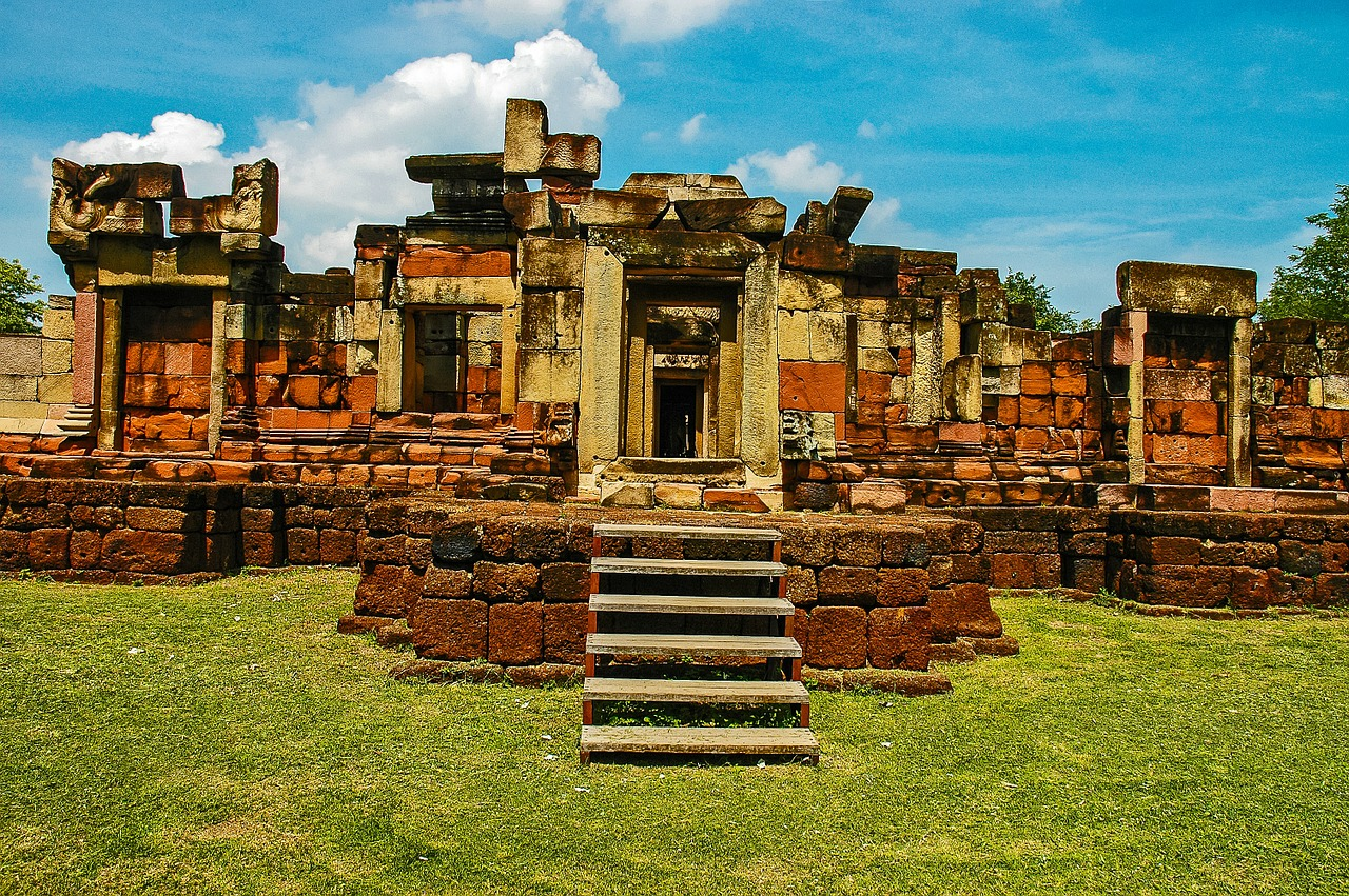 temple ruins khorat thailand free photo