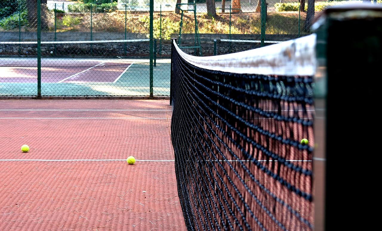 tennis  tennis court  tennis ball free photo
