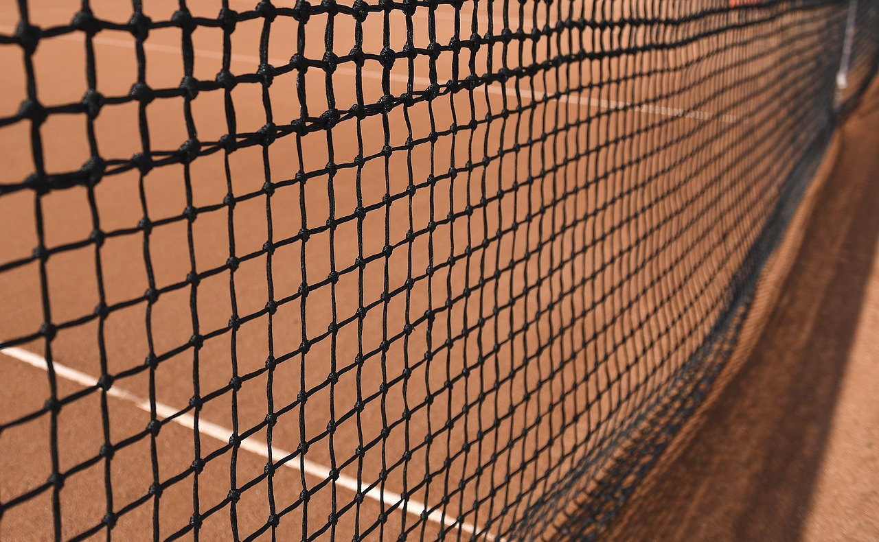 tennis net  tennis court  clay court free photo