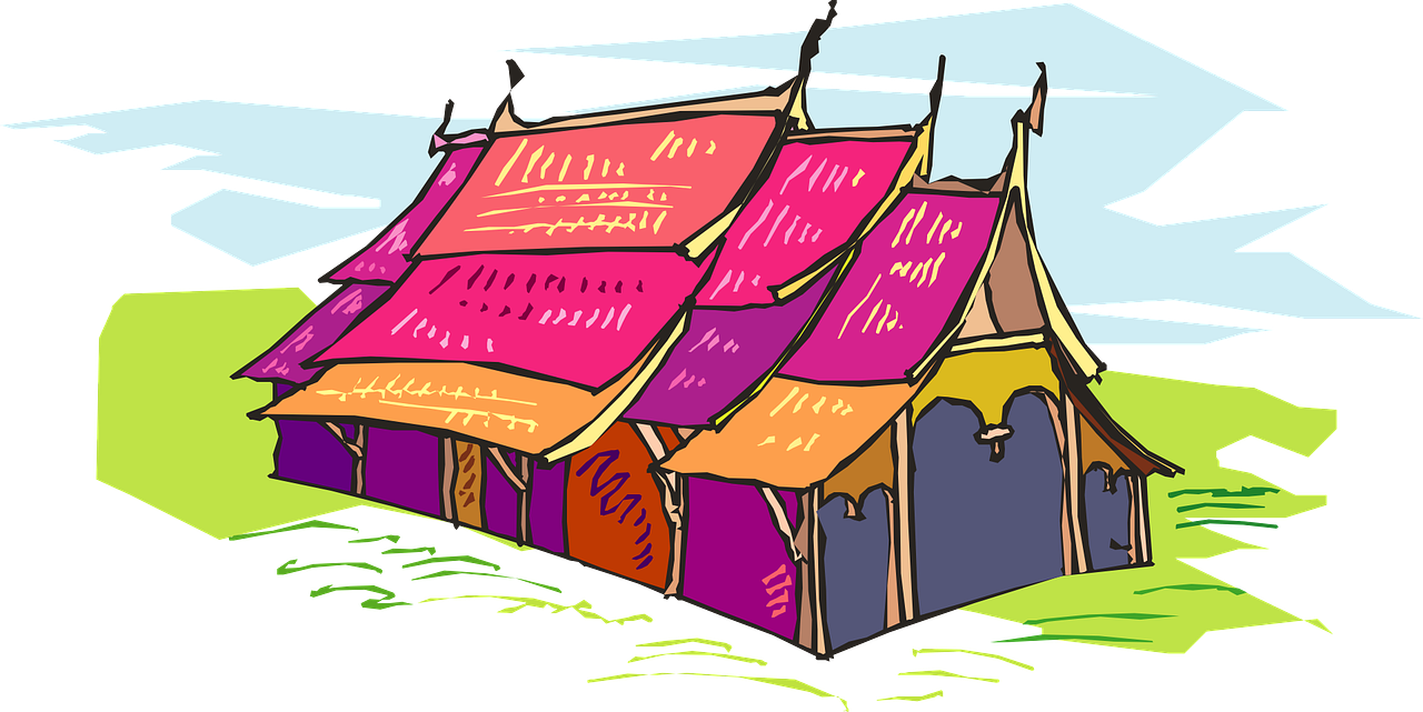tent colored circus free photo