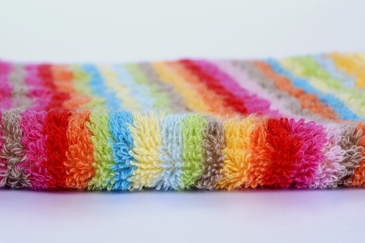 terry washcloth striped free photo