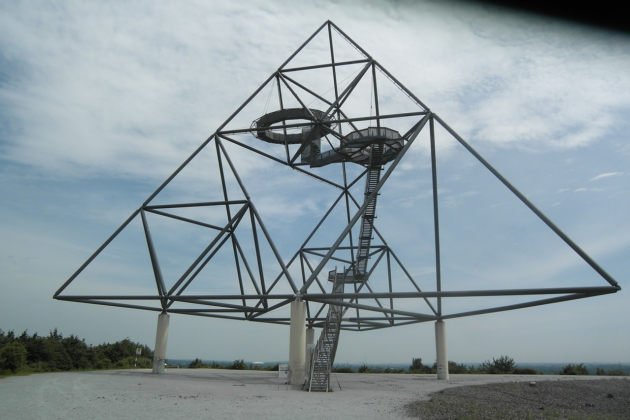 tetrahedron bottrop germany ruhr area free photo