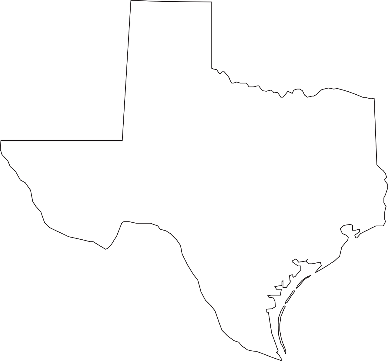 texas map geography free photo