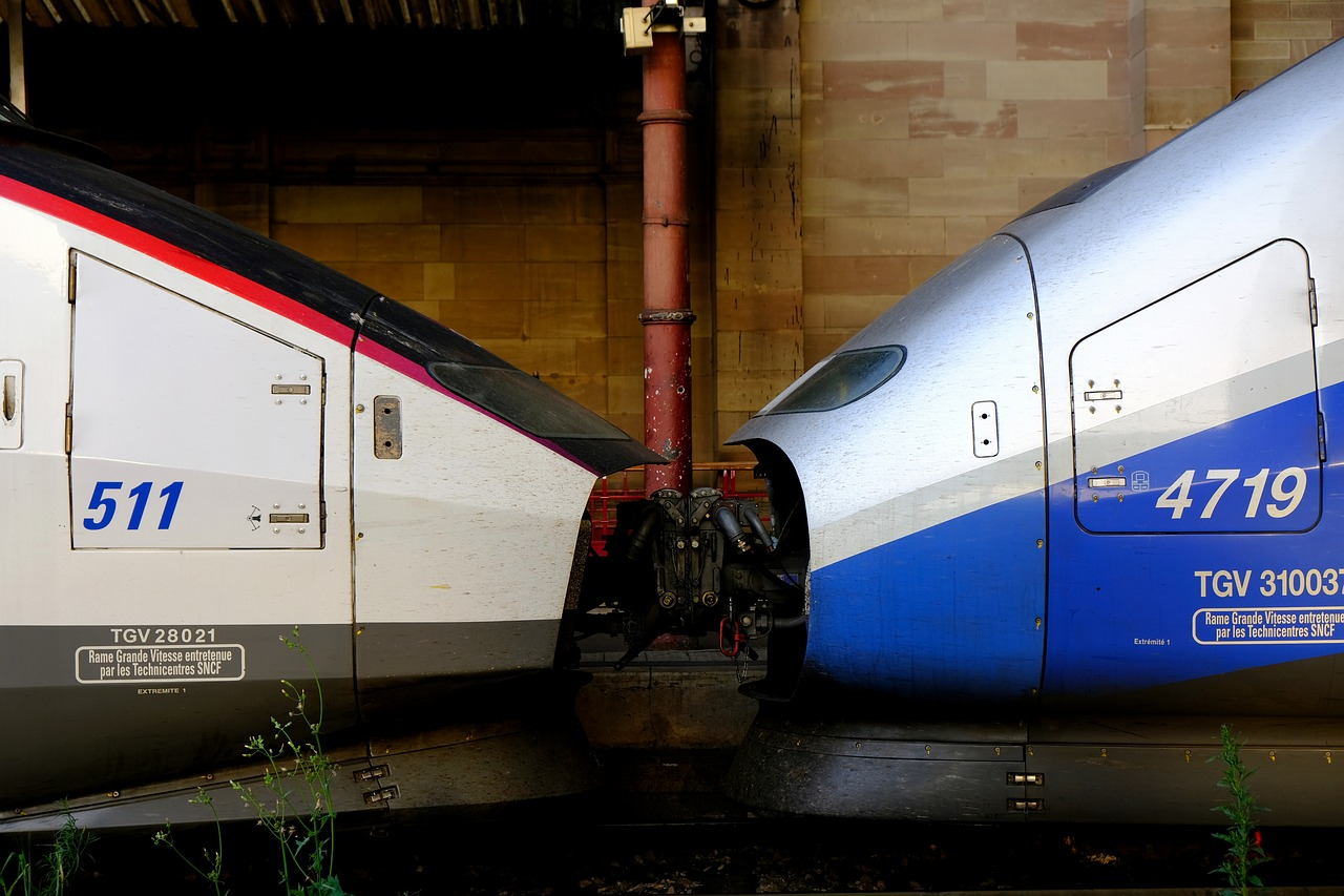 Tgv 1 And 2 D Clutch Old New Connected Railway