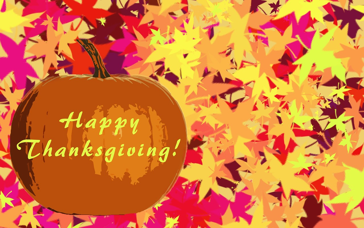 Thanksgivinghappy Thanksgivingholidaymaple Leavesyellow Free