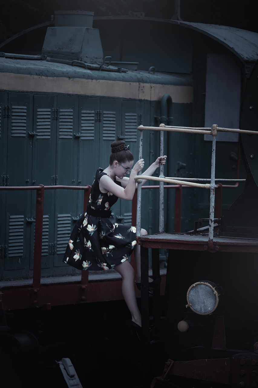 the girl in the train station,steam locomotives,retro,dress,sundress,beauty,photo,fashion,view,hairstyle,girl,model,posture,pin up girl,photographer,pin-up girl,woman,portrait,photoshoot,stylish,pin-up,emotions,railway carriage,train,partly cloudy,youth,queen,costume,handsomely,female,long hair,lady,beautiful,style,magazine,girl at the station,free pictures, free photos, free images, royalty free, free illustrations