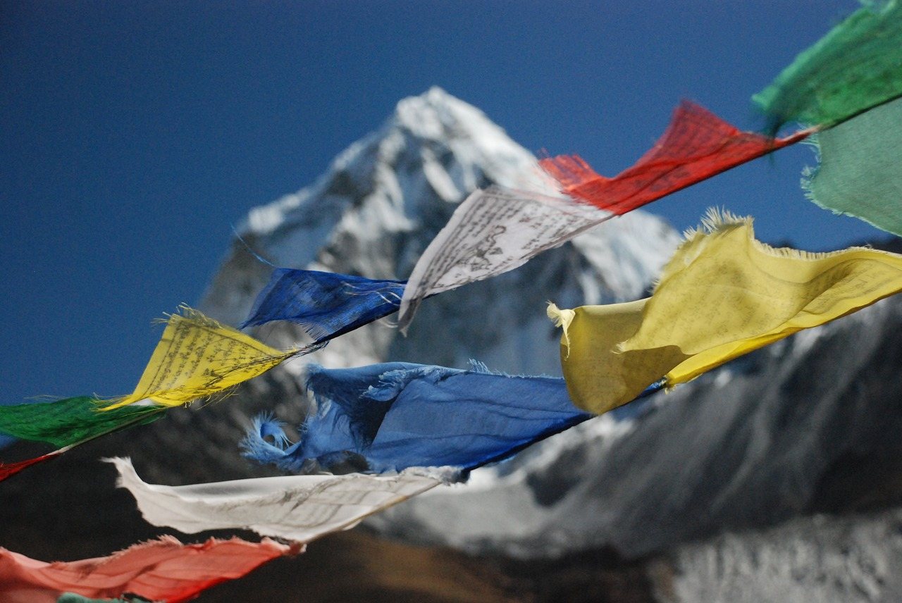 the himalayas  nepal  prayer flags free photo