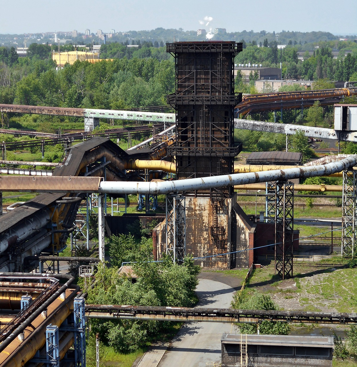 the industry industrial landscape ironworks free photo