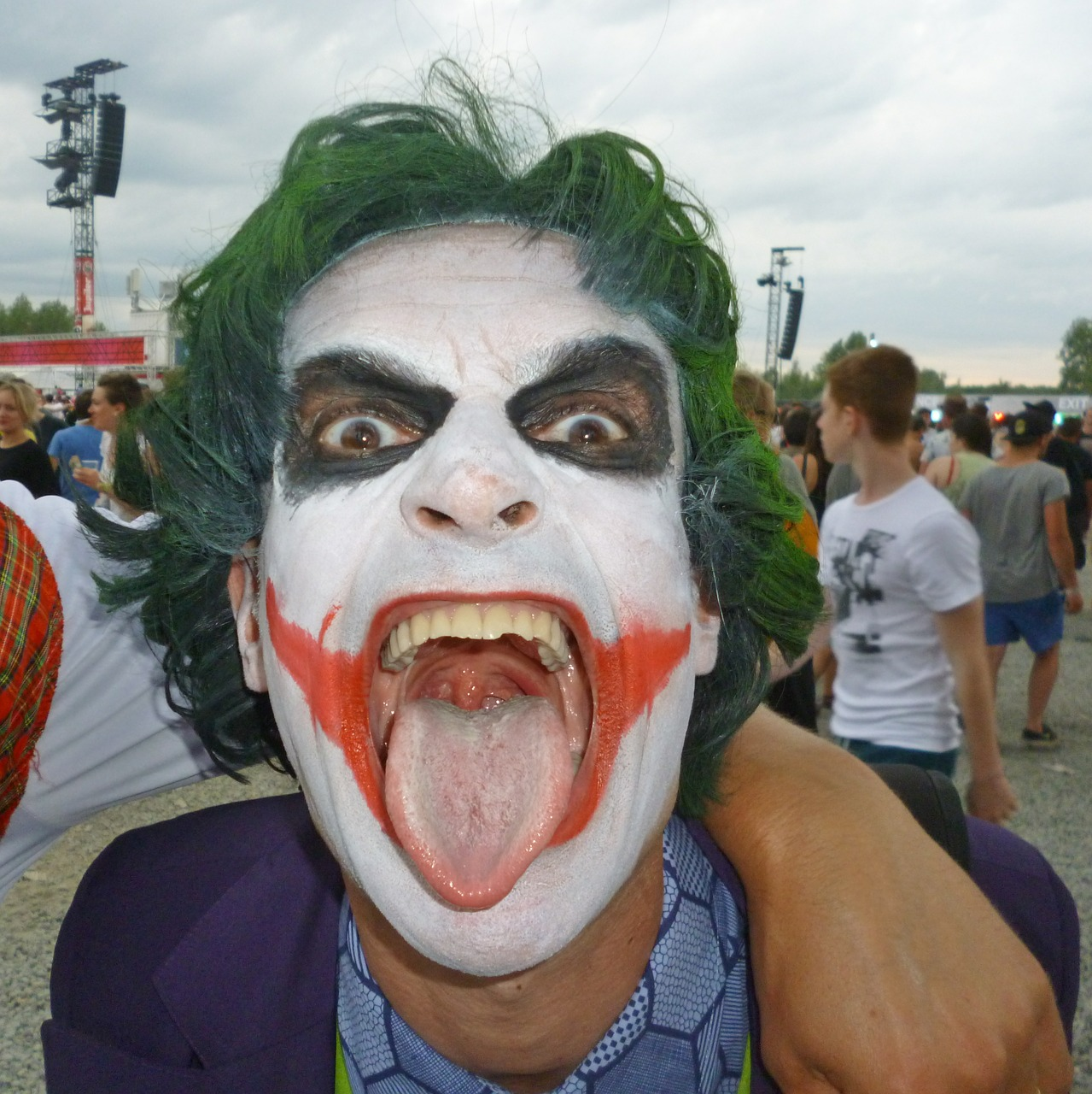 the joker man dress up free photo