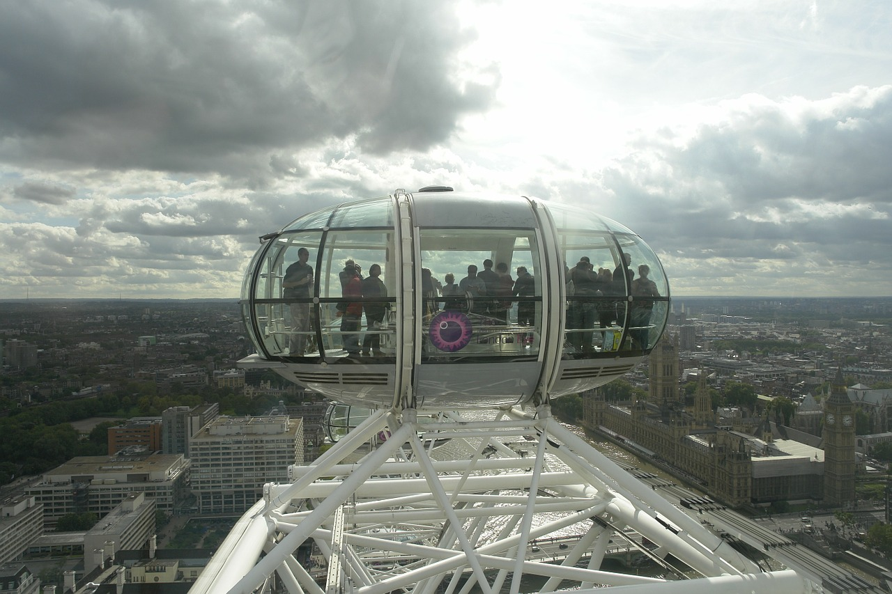 the london eye view carousel free photo