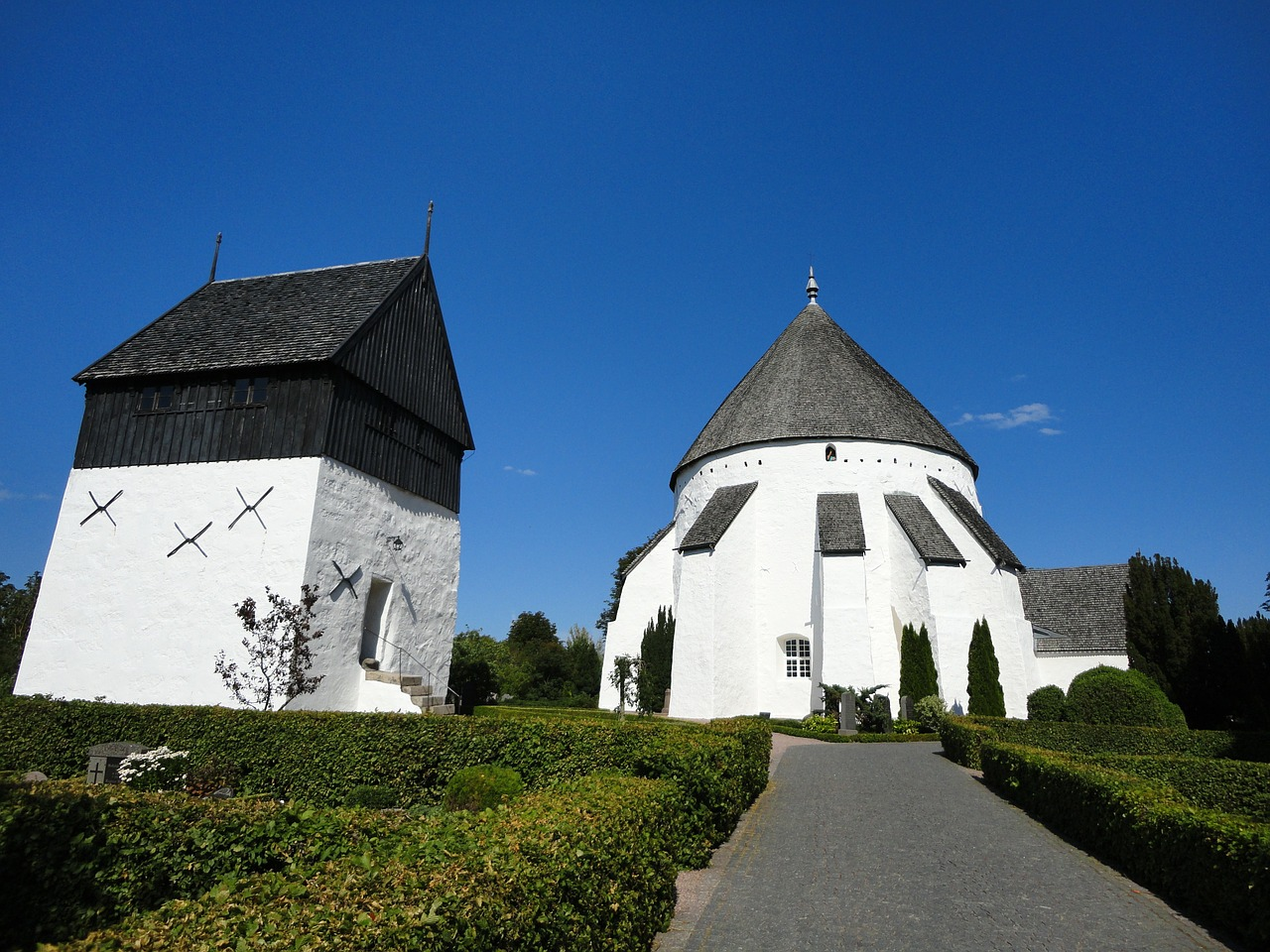 the round church bornholm denmark free photo