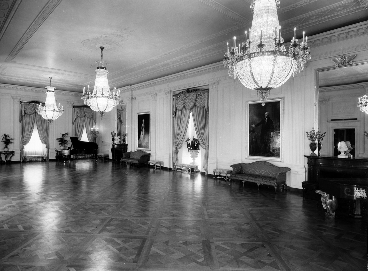 the white house black and white 1952 free photo