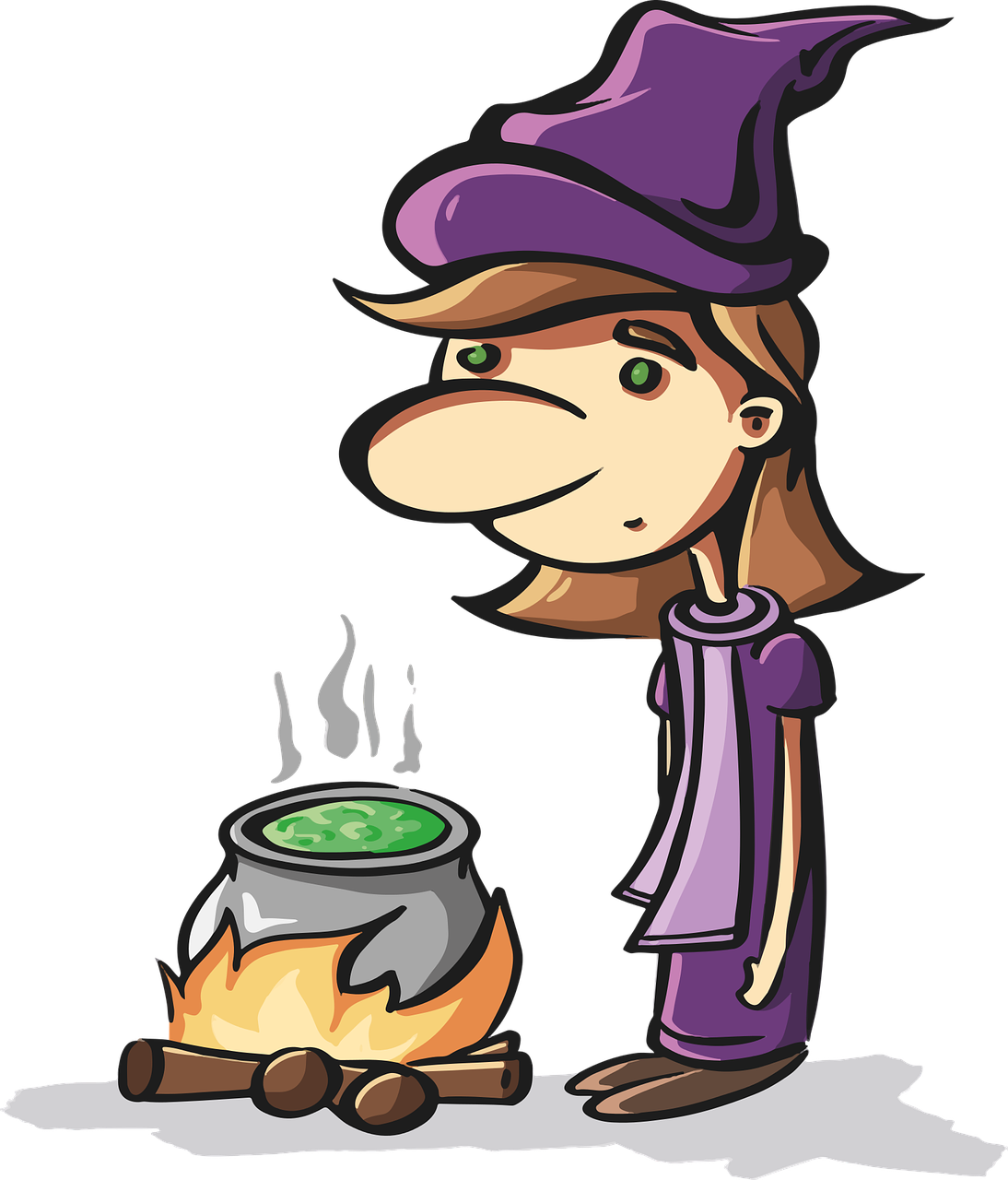 the witch, helloween, horror, mystical, comic, pot, Free vector graphics, Free illustrations,free pictures, free photos, free images, royalty free, free illustrations, public domain
