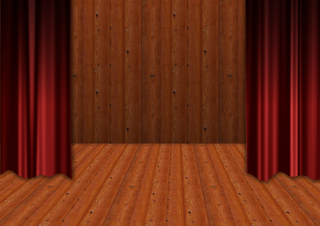 theater stage curtain free photo