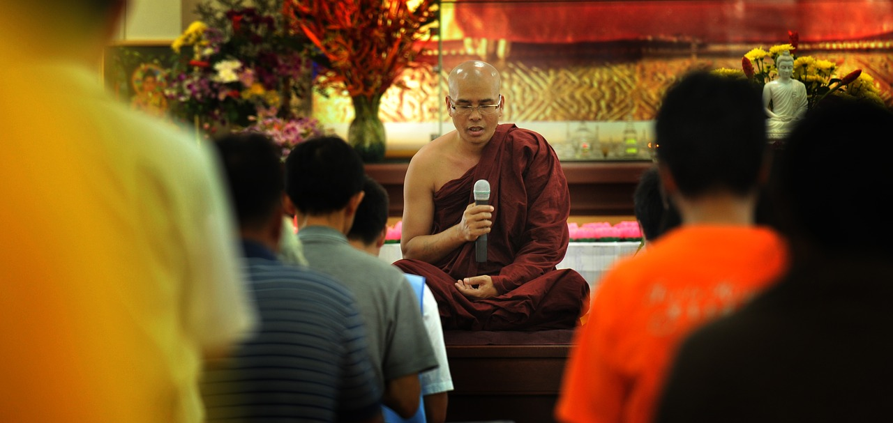 theravada buddhism monk blessing blessing free photo