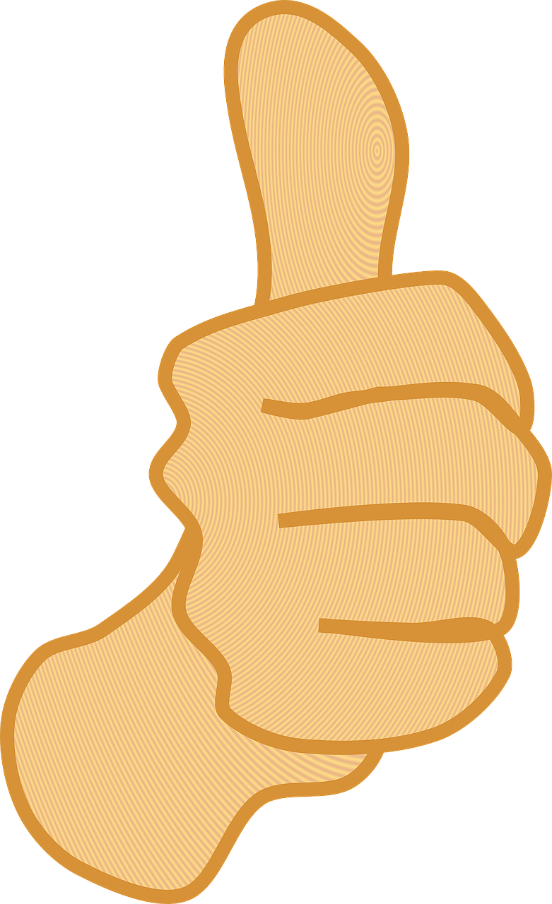 thumbs up thumb yes free photo
