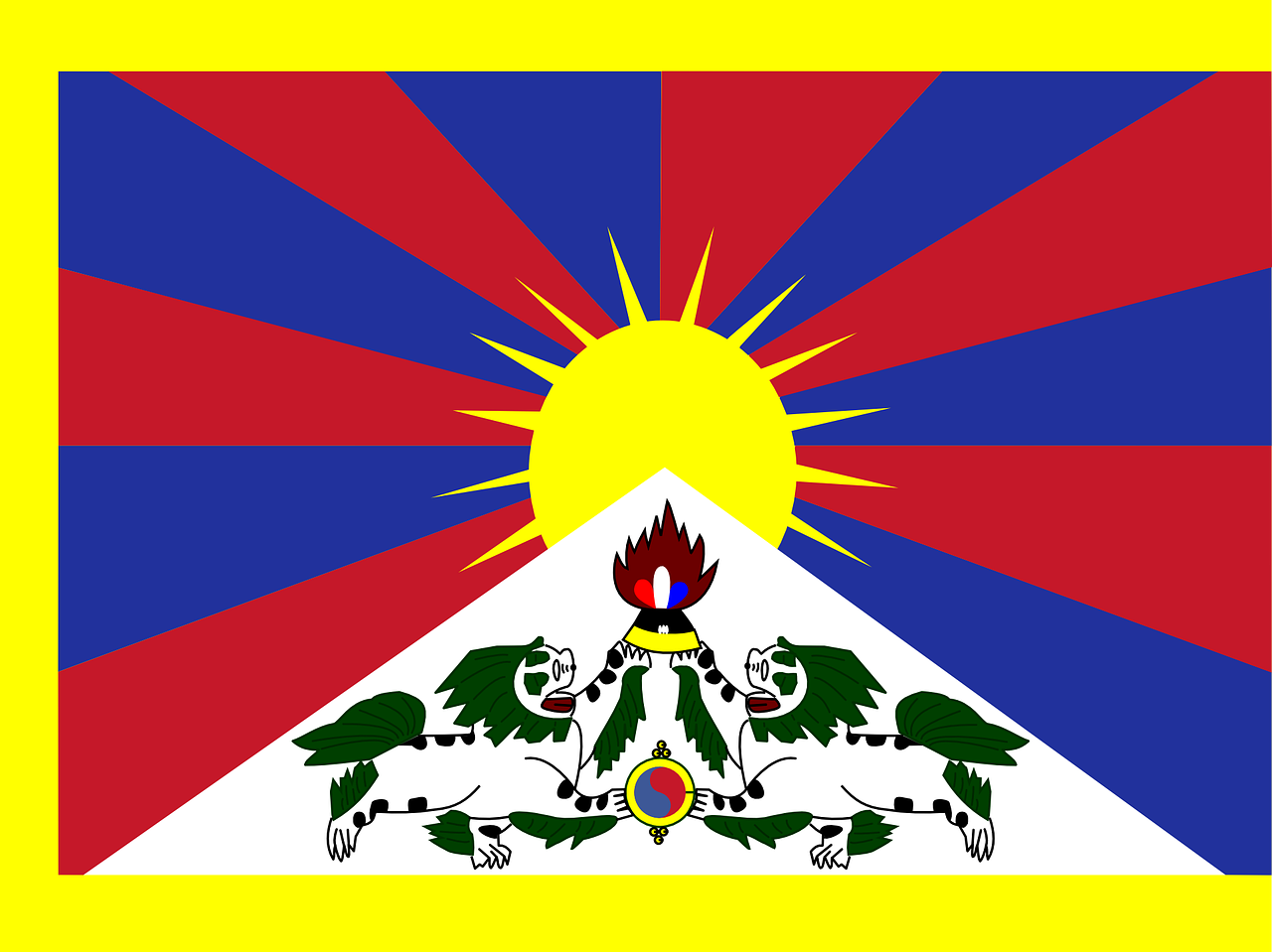 tibet flag independence movement free photo