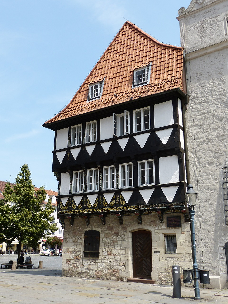 timber framed building braunschweig historically free photo