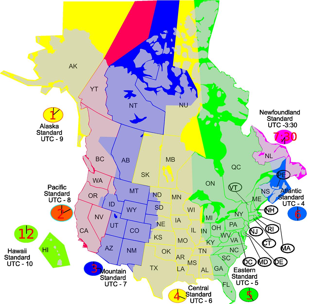 Timezone,time,zone,map,united states - free photo from needpix.com