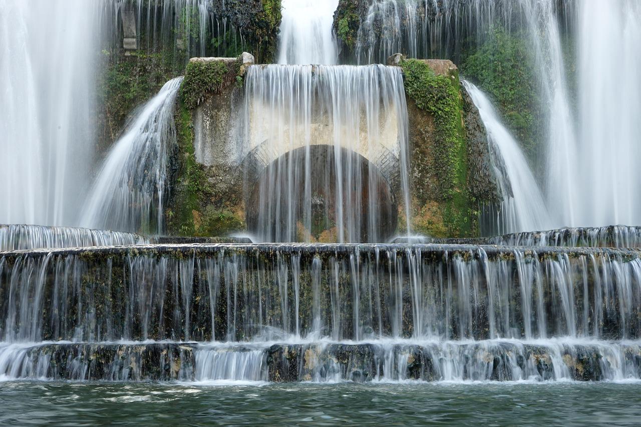 Villa d'Este Palace Waterfall in Tivoli