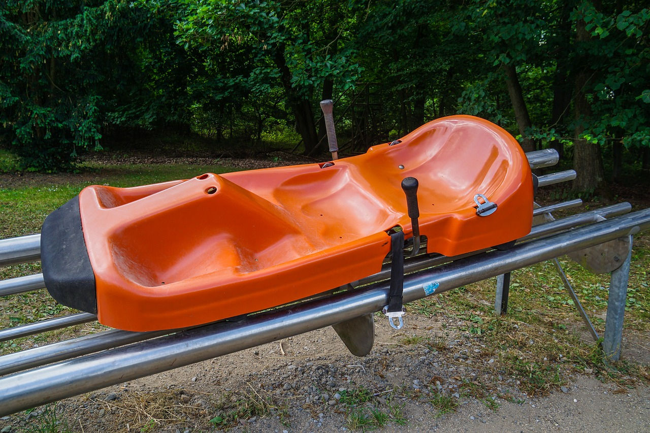 toboggan sled  bobsleigh  slide free photo