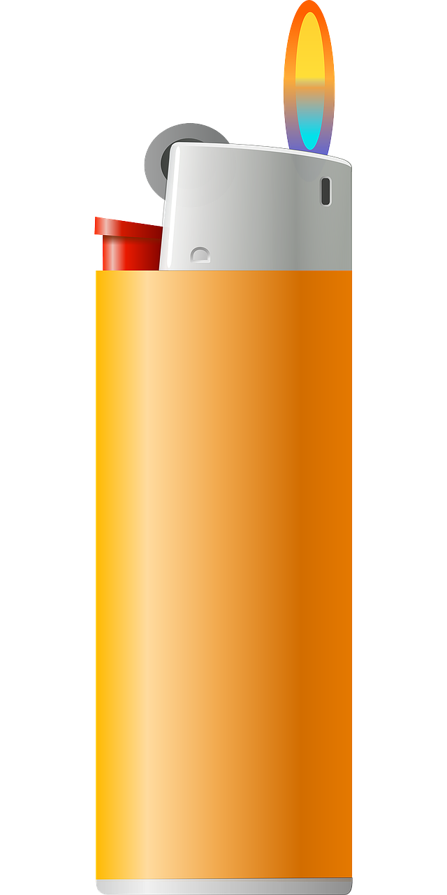 pocket lighter,lighter,zippo,flame,fire,burn,ignition,cigarette lighter,orange,free vector graphics,free pictures, free photos, free images, royalty free, free illustrations, public domain