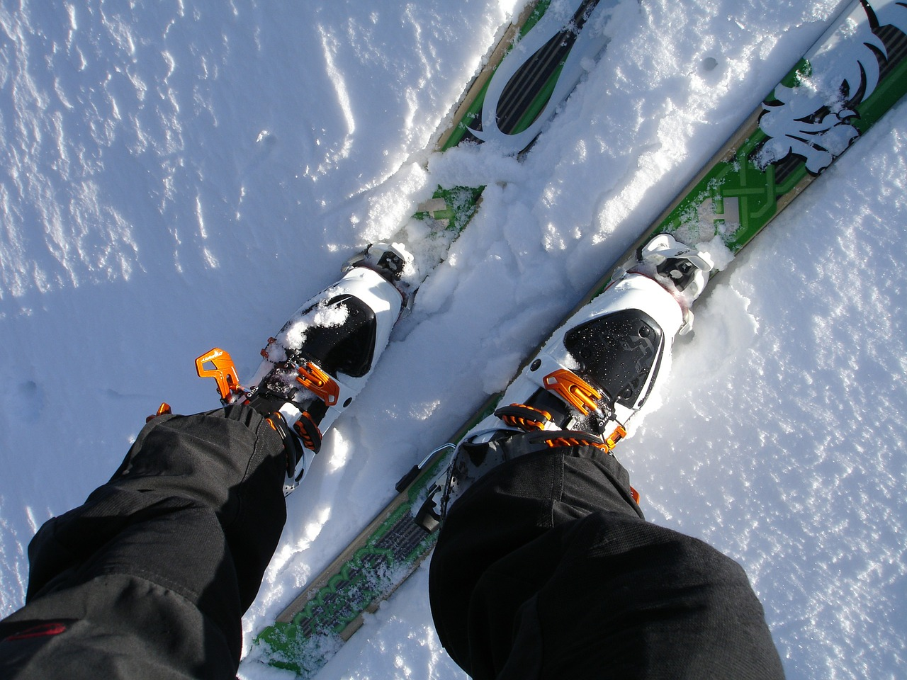 touring skis ski touring binding backcountry skiiing free photo