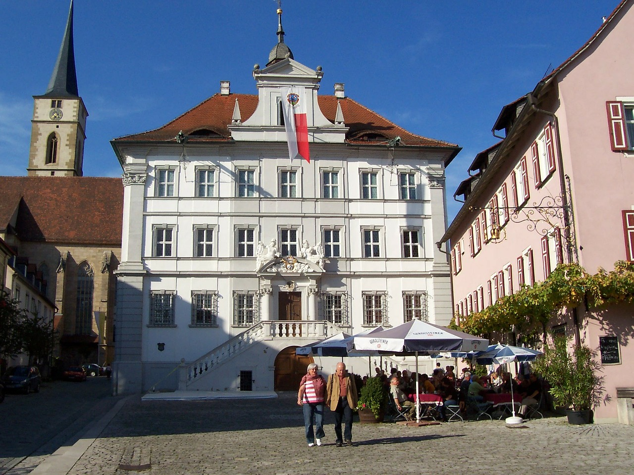 town hall iphofen franconian wine country free photo