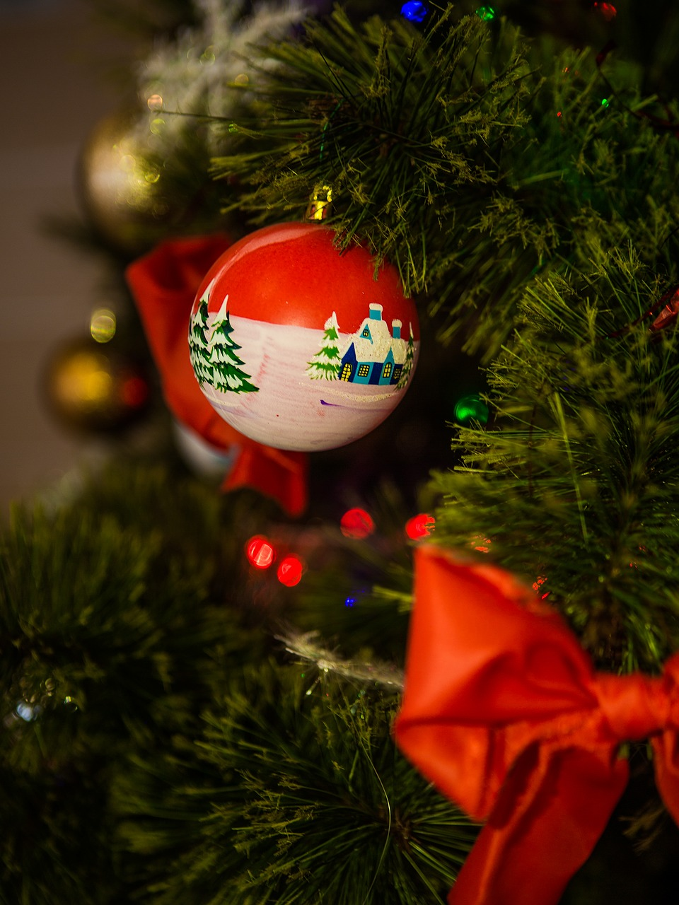 toy christmas ball new year's eve free photo