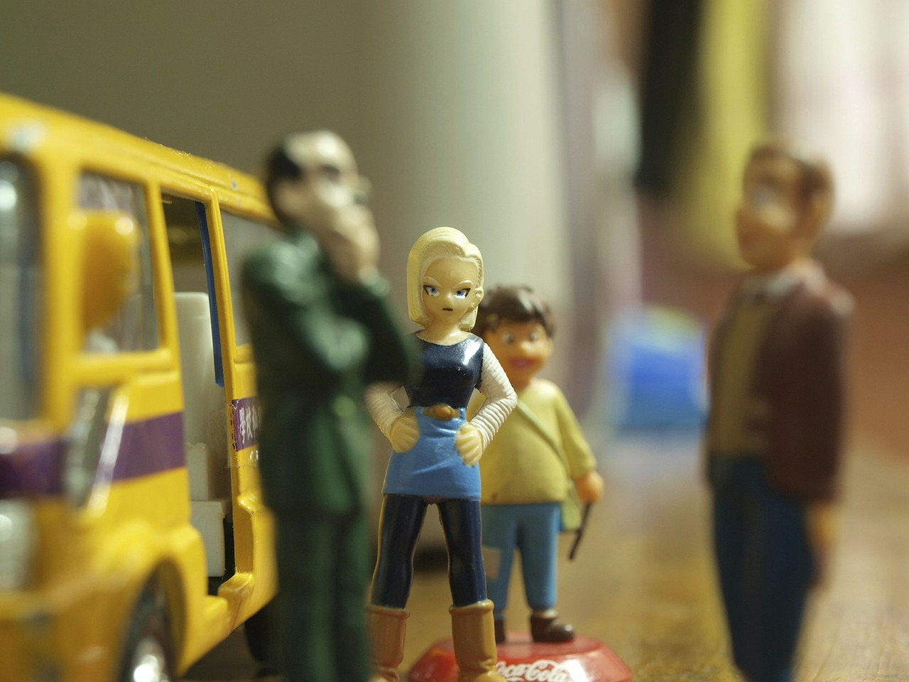 toy,miniature,waiting,bus stop,public transport,bus,teen,girl,impatience,standing,free pictures, free photos, free images, royalty free, free illustrations