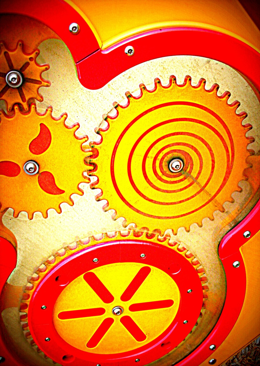toy,gears,red,yellow,plastic,playground,free pictures, free photos, free images, royalty free, free illustrations, public domain