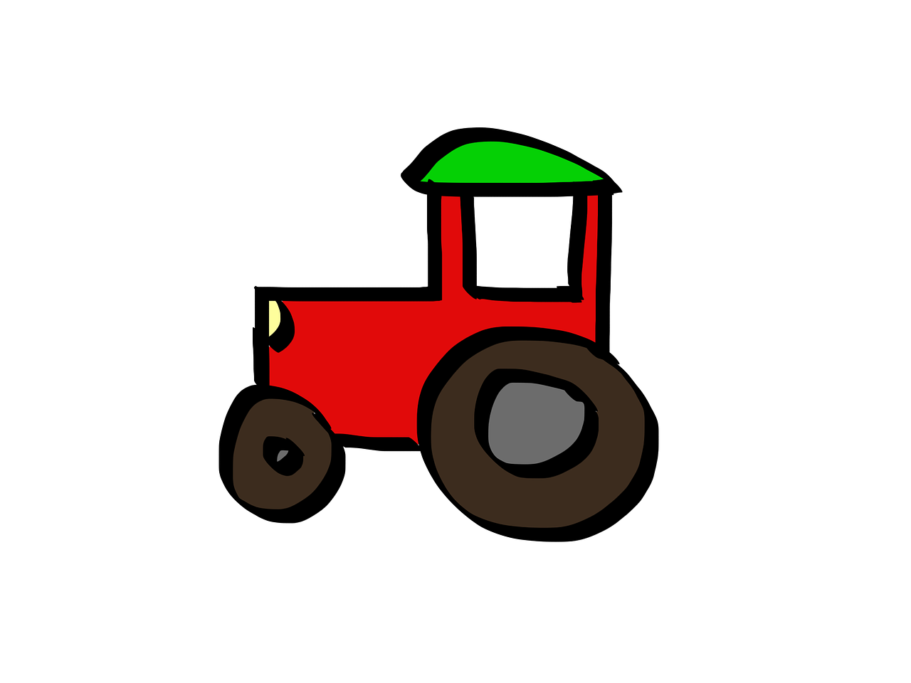 tractor cartoon red free photo