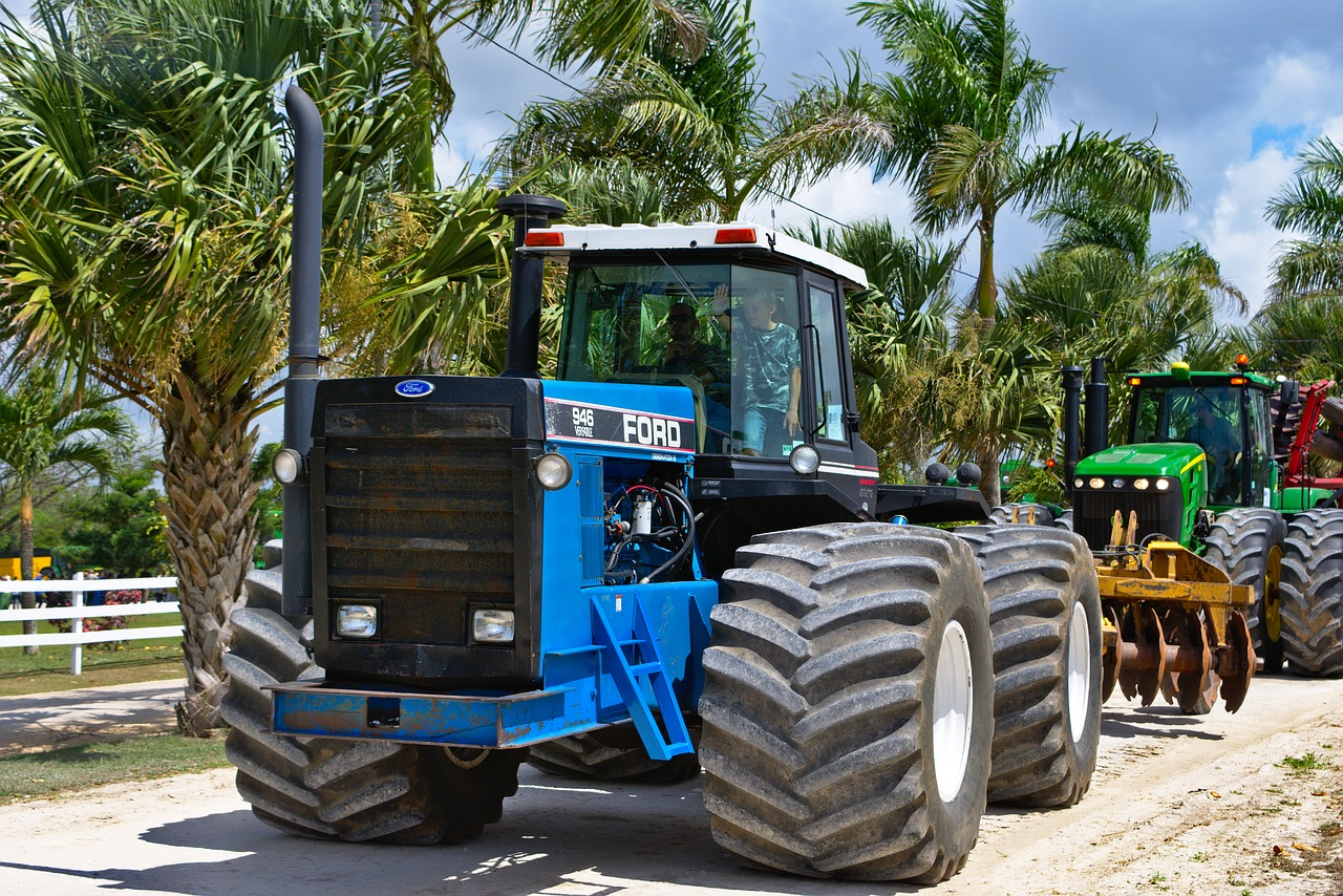 tractor transportation system farm equipment free photo