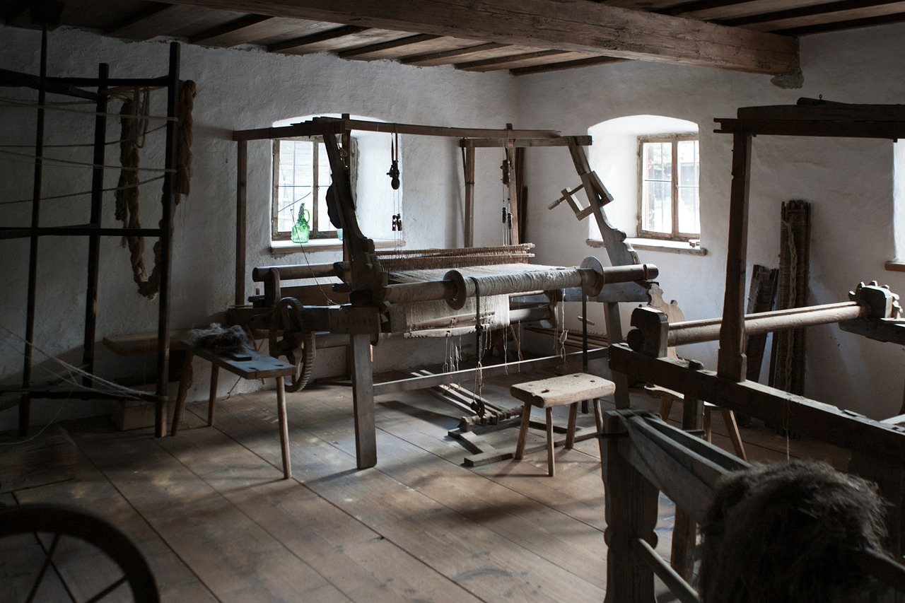 traditional weaving room austria indoors free photo