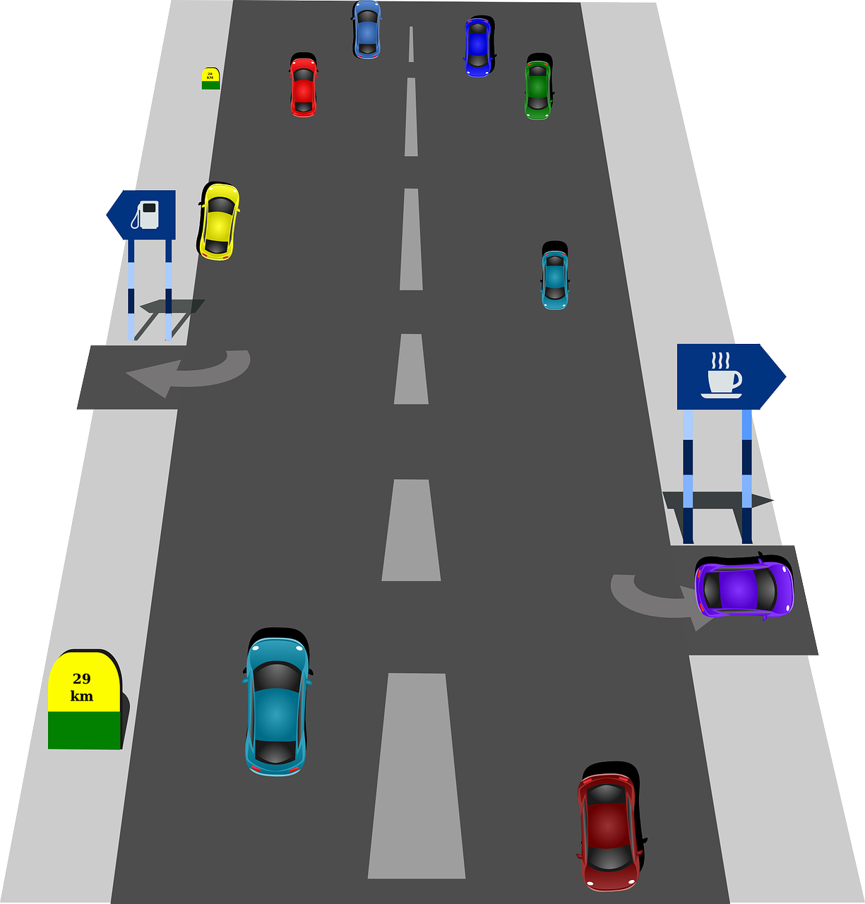 traffic,road,driving,cars,highway,driving rules,speed,turn,vehicles,transportation,turning,free vector graphics,free pictures, free photos, free images, royalty free, free illustrations, public domain