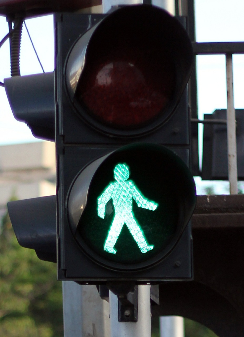 traffic lights green walk free picture