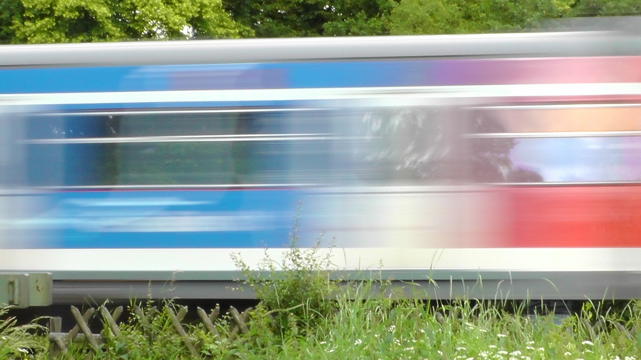 Train Speed Express Train Color Railway Free Image From
