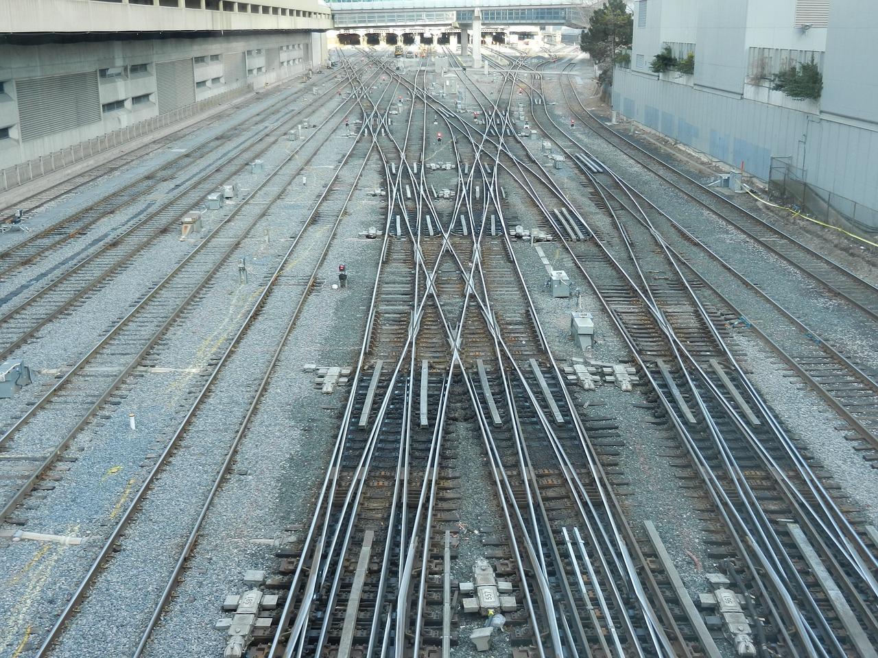 train tracks transportation railroad railway free photo from