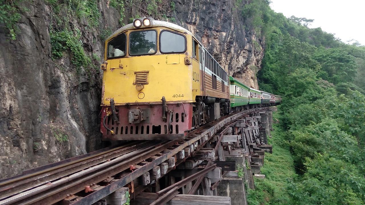 Train,thailand,kanchanaburi,death railway,free pictures - free ...