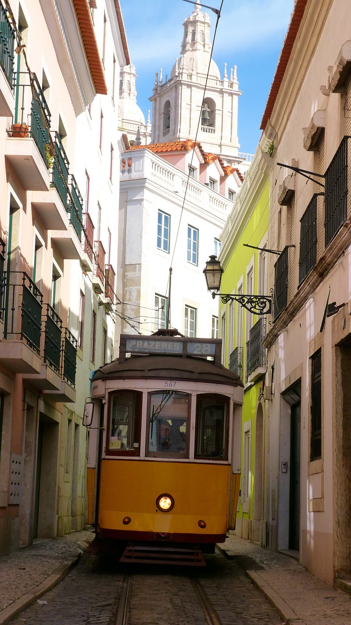 tram means of transport old town free photo