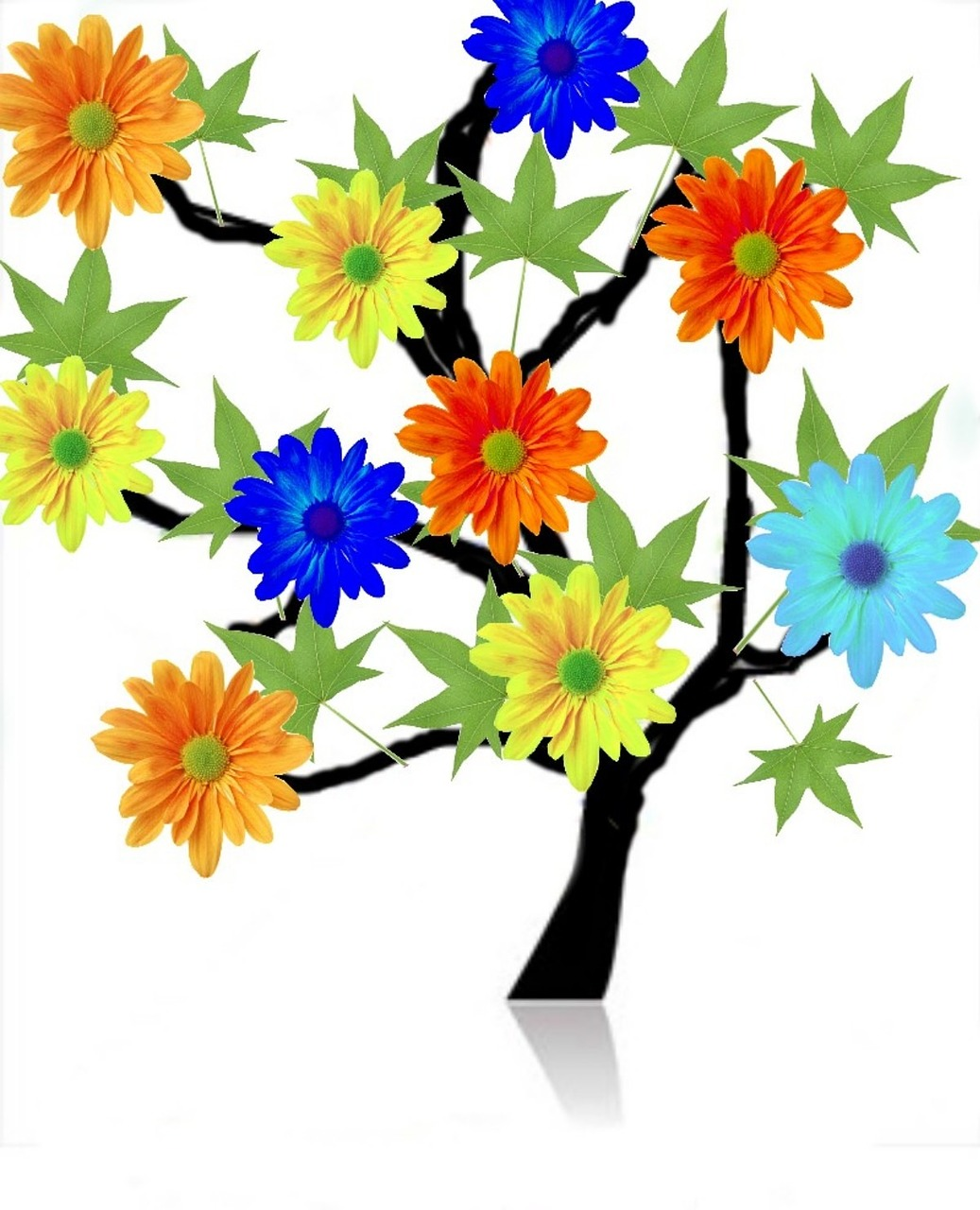 tree,flowers,assembly,free pictures, free photos, free images, royalty free, free illustrations, public domain