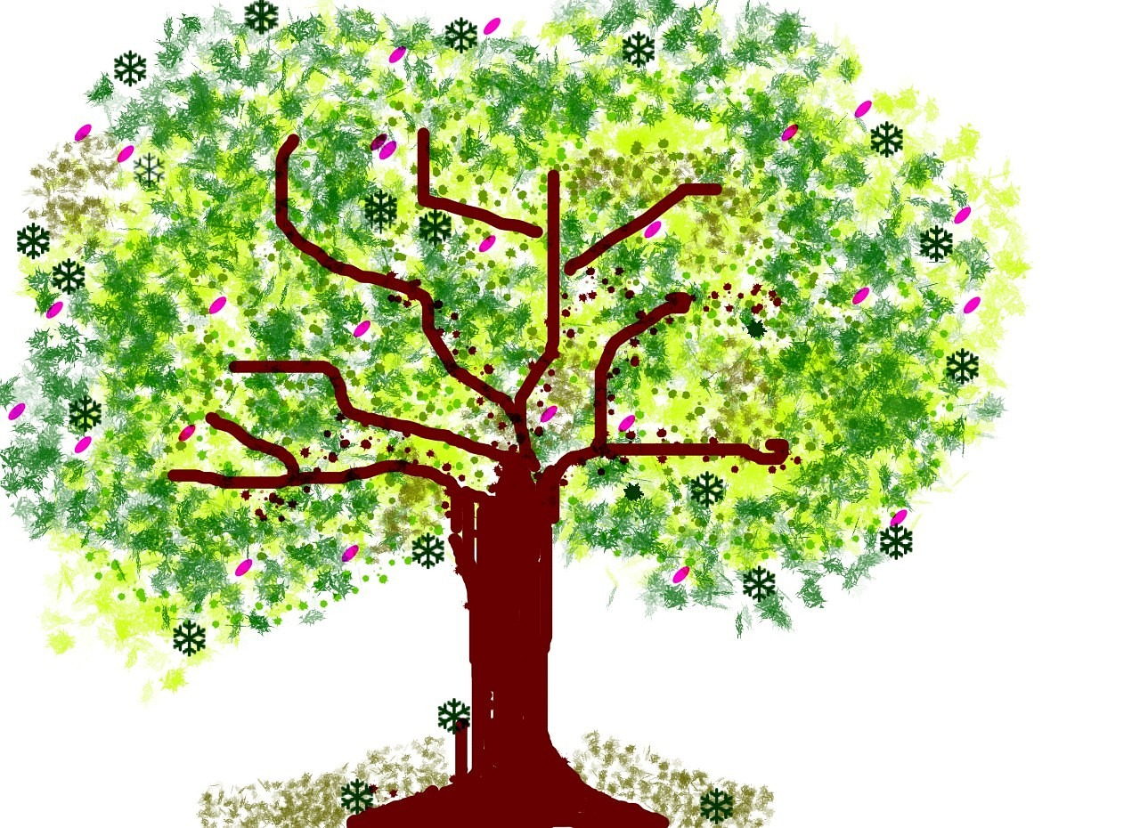tree nature drawing free photo