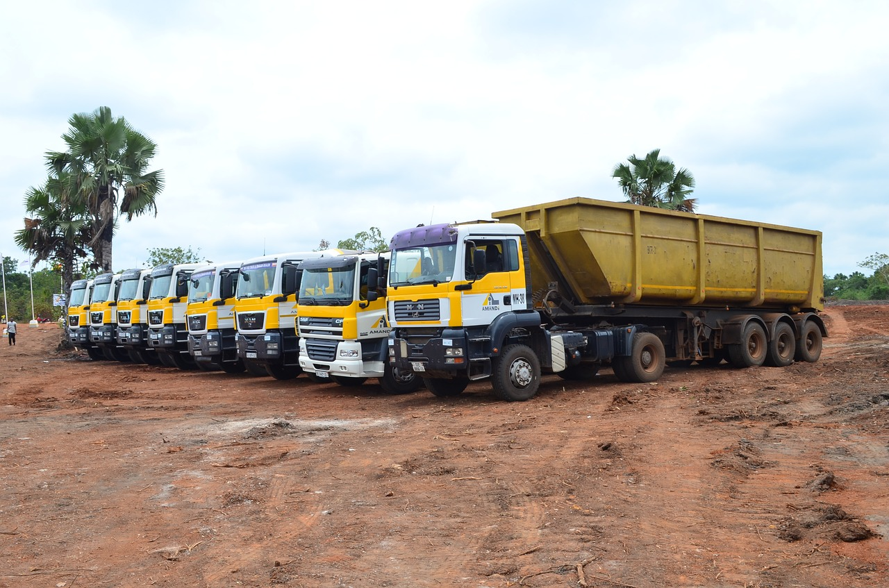 Trucks, Heavy Equipment Used in Construction